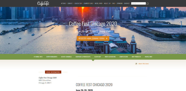 Cancelled - Coffee Fest Chicago - August 2020