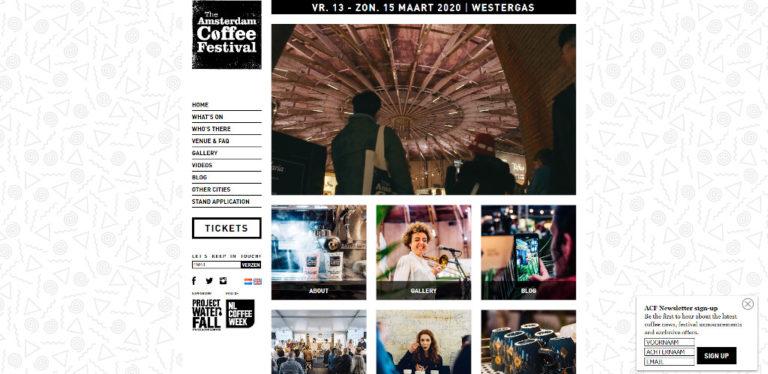 The Amsterdam Coffee Festival - March 2020